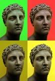 ART de POP - style d'Andy Wahrol - buste grec-romain dans une clé d'art de bruit Images libres de droits