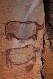 Art de roche - collines de Tsodilo Images stock