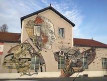 Art de rue à Lisbonne Photographie stock