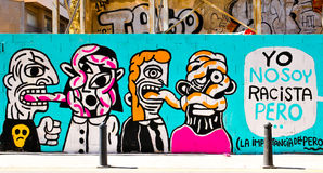 Art de rue à Valence, Espagne image stock