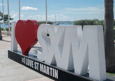 Art de rue - île Martin-des Caraïbes de St de Marigot Photos stock