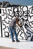 Art de rue au DES de Quartier Halles - Paris Image stock