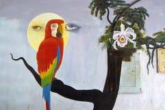 Art de rue : collage sur un mur Photo libre de droits