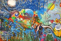 Art de rue dans des voisinages de Boca de La Photographie stock