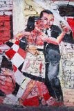 Art de rue dans des voisinages de Boca de La Images stock