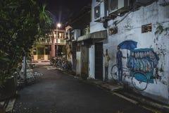 Art de rue dans l'allée Penang photographie stock libre de droits