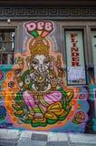 Art de rue dans le bonnetier Lane Melbourne Image stock