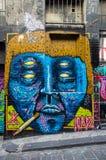 Art de rue dans le bonnetier Lane Melbourne Photographie stock