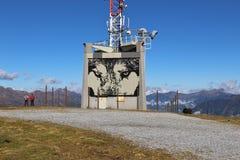 Art de rue dans les montagnes, Autriche Images libres de droits