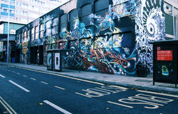 Art de rue de graffiti à Bristol Photo stock