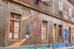 Art de rue de Valparaiso Photo libre de droits