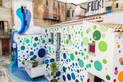 Art de rue en parc culturel de ferme image libre de droits