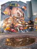 Art de rue, Glasgow, Ecosse, R-U images stock