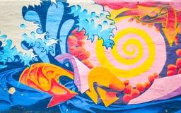 Art de rue de graffiti images stock