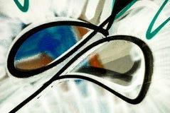 Art de rue - peinture de graffiti sur le mur photos libres de droits