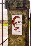 Art de rue - portrait de femme, Porto Image libre de droits