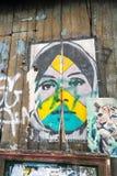Art de rue, Prague, République Tchèque Image stock