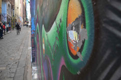 Art de rue - profondeur de champ Image stock