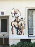 Art de rue sur le mur à Paris, France photo libre de droits