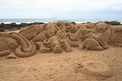 Art de sable Photos libres de droits