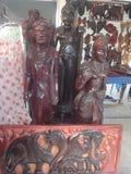 Art de statue et en bois Photographie stock libre de droits