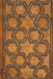 Art de tabouret avec les modèles géométriques sur le bois Image libre de droits