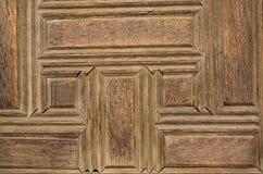 Art de tabouret avec les modèles géométriques sur le bois Photographie stock libre de droits