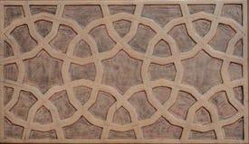 Art de tabouret avec les modèles géométriques sur le bois Photo stock