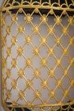 Art de tabouret avec les modèles géométriques sur le bois Images libres de droits
