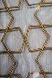 Art de tabouret avec les modèles géométriques sur le bois Images stock