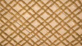 Art de tabouret avec les modèles géométriques sur le bois Photos libres de droits