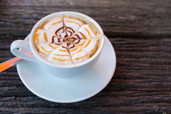 Art de tasse de cappuccino Photo stock
