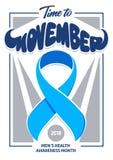 Art de vecteur d'affiche de Movember Photos libres de droits