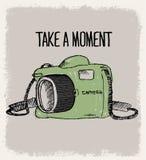 Art de vecteur d'appareil-photo de croquis ou de griffonnage Photographie stock libre de droits