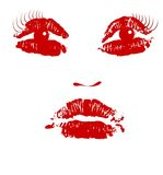 Art de vecteur de visage illustration libre de droits