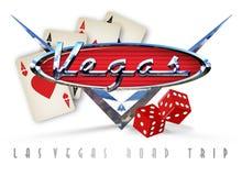 Art de voyage par la route de Las Vegas illustration libre de droits