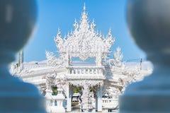 Art de Wat Rong Khun The dans le style d'un temple bouddhiste en Chiang Rai, Thaïlande Photo stock