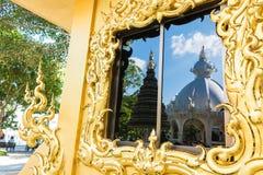 Art de Wat Rong Khun The dans le style d'un temple bouddhiste en Chiang Rai, Thaïlande Photographie stock libre de droits
