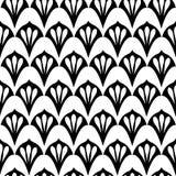 Art Deco μαύρος & άσπρος με τους χαριτωμένους ανεμιστήρες απεικόνιση αποθεμάτων