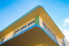 Art Deco που χτίζει τη νότια παραλία Μαϊάμι Στοκ Φωτογραφία