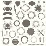 Σύνολο διανυσματικών διακοσμητικών στοιχείων στο εκλεκτής ποιότητας ύφος του Art Deco Στοκ Εικόνες