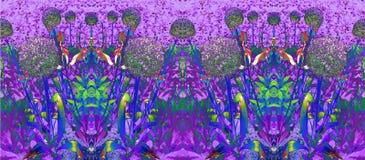 Art Deco Allium kwiatu Kwiecista granica ilustracji