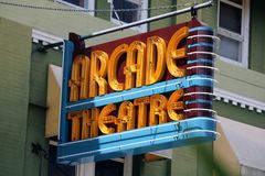 Art Deco Arcade Theatre Building Images libres de droits
