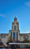 Art Deco architecture in Brussels,modern Church Stock Photo
