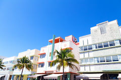 Art deco architecture of Miami Beach, Florida. Stock Photo