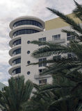 Art Deco Architecture Ocean Drive in South Beach, Miami Royalty Free Stock Images