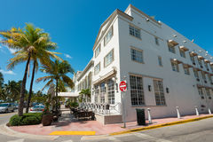 Art Deco architecture at Ocean Drive in South Beach, Miami Stock Images