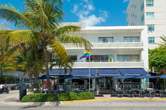 Art Deco architecture at Ocean Drive in South Beach, Miami Stock Image