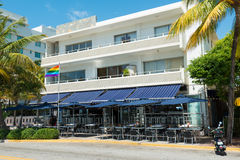 Art Deco architecture at Ocean Drive in South Beach, Miami Stock Photography