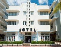 Art Deco architecture at Ocean Drive in South Beach, Miami Stock Image